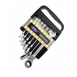 Комплект ключове с тресчотка въртящ 8-19мм